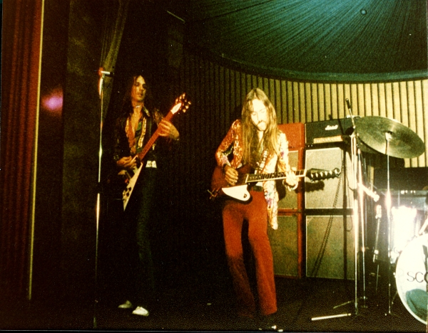 ULI with GIBSON FIREBIRD GUITAR in GERMANY 1974